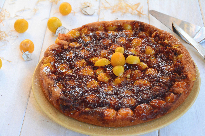 Gâteau renversé aux mirabelles et amandes
