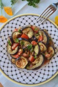 salade d'aubergines grillées au cumin (salade frâicheur)