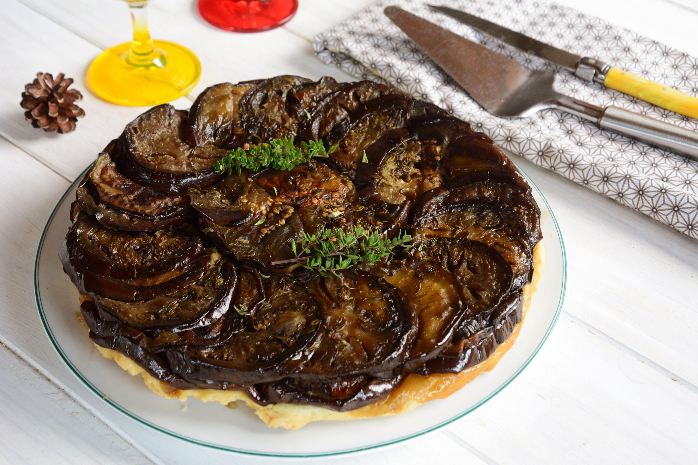 Tatin aubergine chèvre - idée d'accompagnement ou d'entrée - Au Fil du Thym