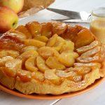 Tatin aux pommes avec une petite sauce crème au caramel de pomme - Au Fil du Thym