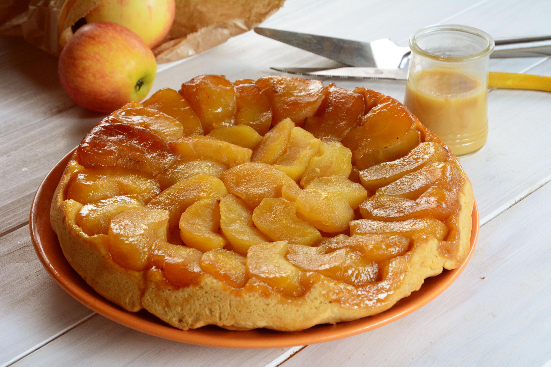 Tatin aux pommes & crème au caramel de pommes
