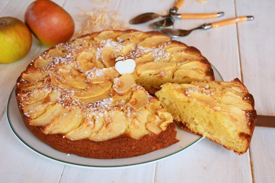 Gâteau aux pommes à l'ancienne