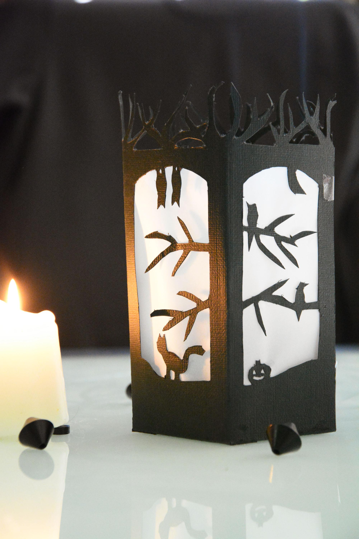 DIY – Lanterne en papier découpé pour Halloween