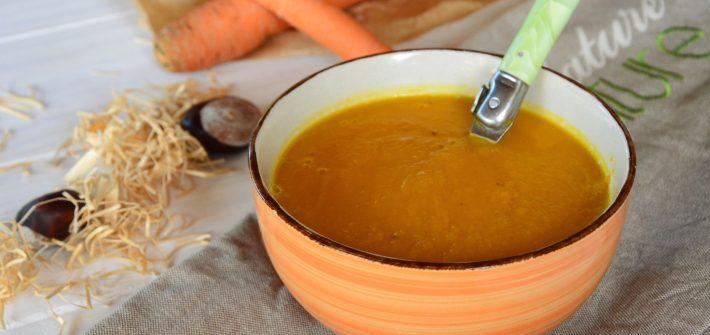 Velouté potiron carotte - soupe d'automne
