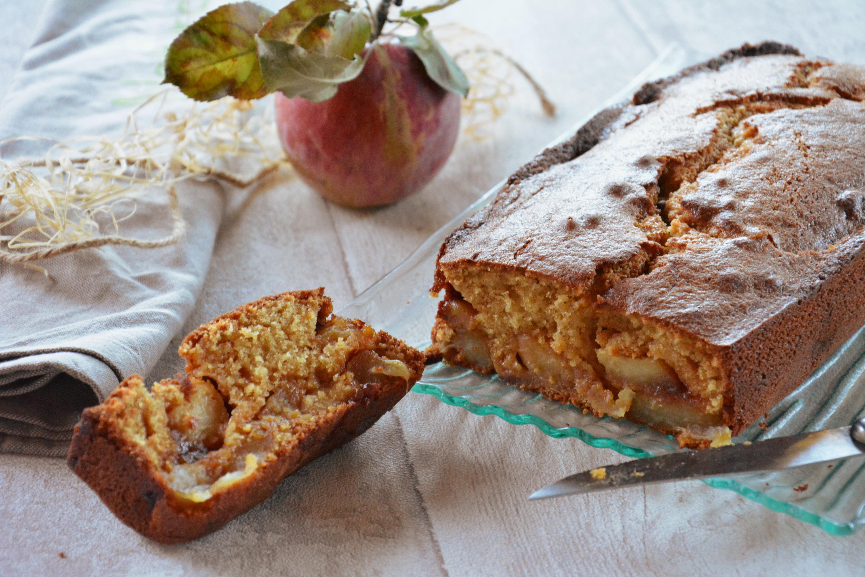 Cake aux pommes tatin {pommes caramélisées}
