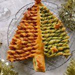 Sapin feuilleté au chorizo et pesto d'épinard - Idée apéro pour Noël