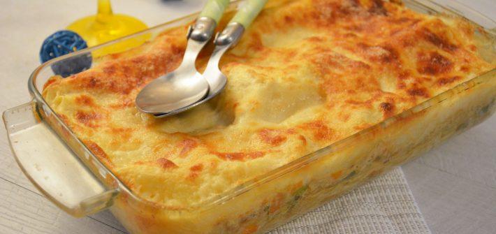 lasagnes au surimi et petits légumes - comfort food - plat ludique