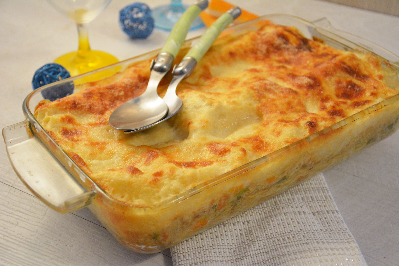 Lasagne au surimi et petits légumes