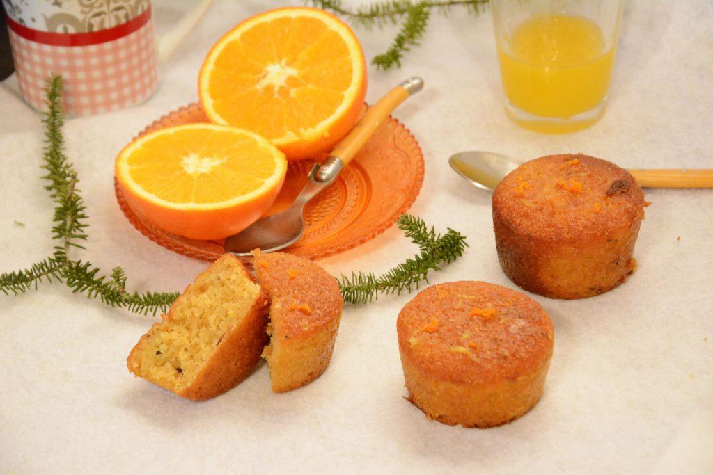 moelleux orange amandes - petits cakes pour le goûter