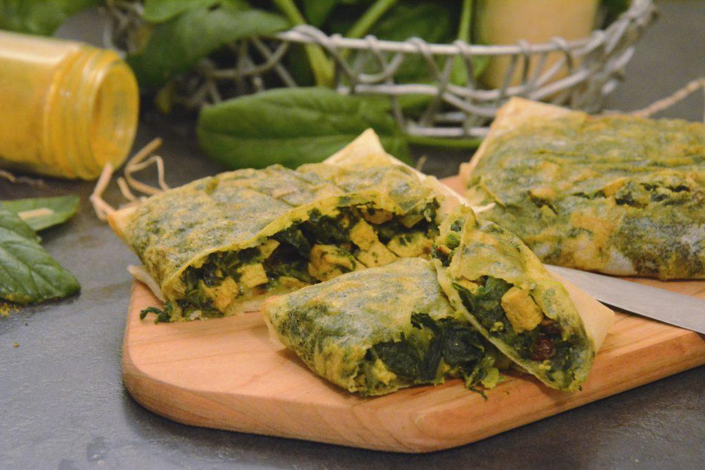 brick epinard tofu curry - idée vegan et facile