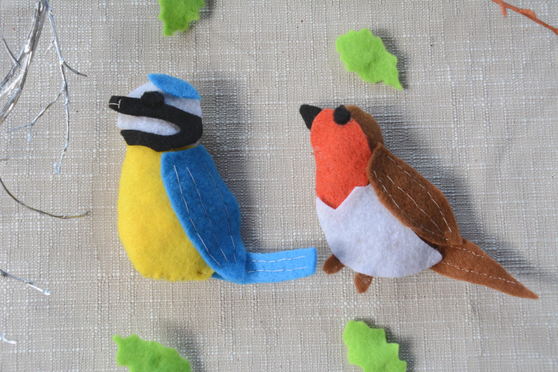 {DIY} Petits oiseaux du jardin en feutrine