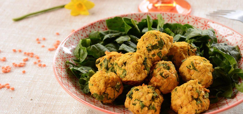 Falafels lentilles corail et épinards - #vegan et faciles