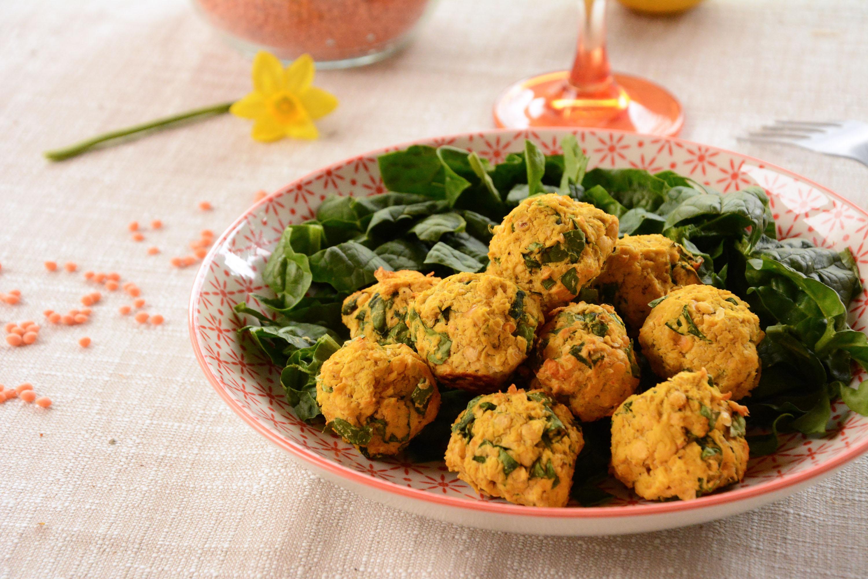 Falafels aux lentilles corail et épinards {#vegan}