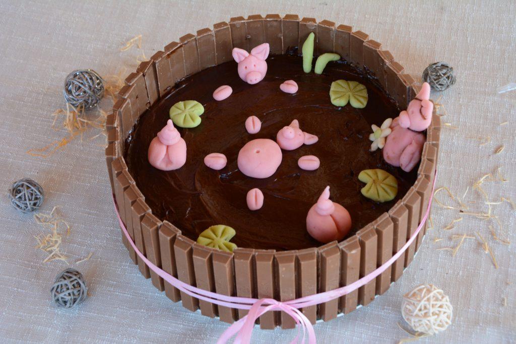 gateau lare aux cochons chocolat et café