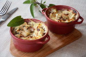 Gratin salsifis sauge lard fume facile - Une idée qui change pour cuisiner en hiver - au fil du thym