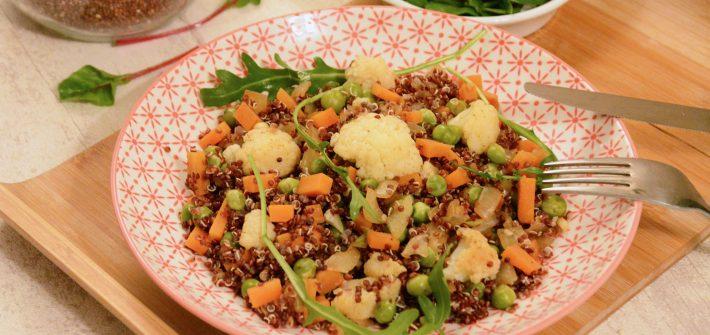 poêlée quinoa légumes petits pois