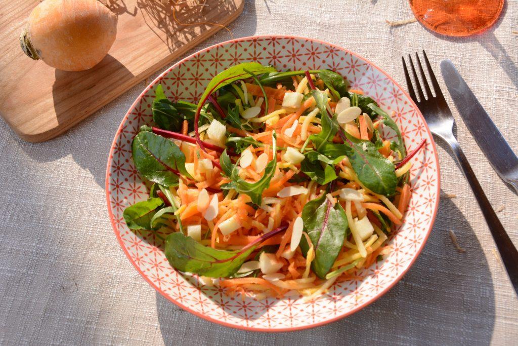 menu février 2021 : Salade de navets boule d'or râpés (en sucré salé)