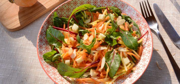 Salade de navets boule d'or râpés (en sucré salé)