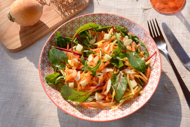 Salade de navets boule d'or râpés (en sucré/salé)