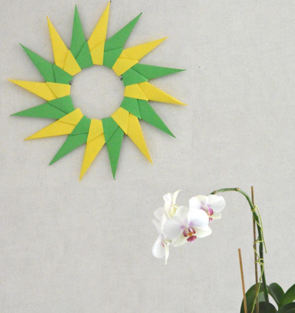 DIY soleil origami - déco - Au Fil du Thym