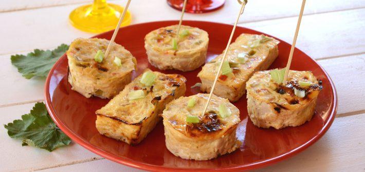 Petits gâteaux poulet coco à la thaï, idée fraiche et légère,