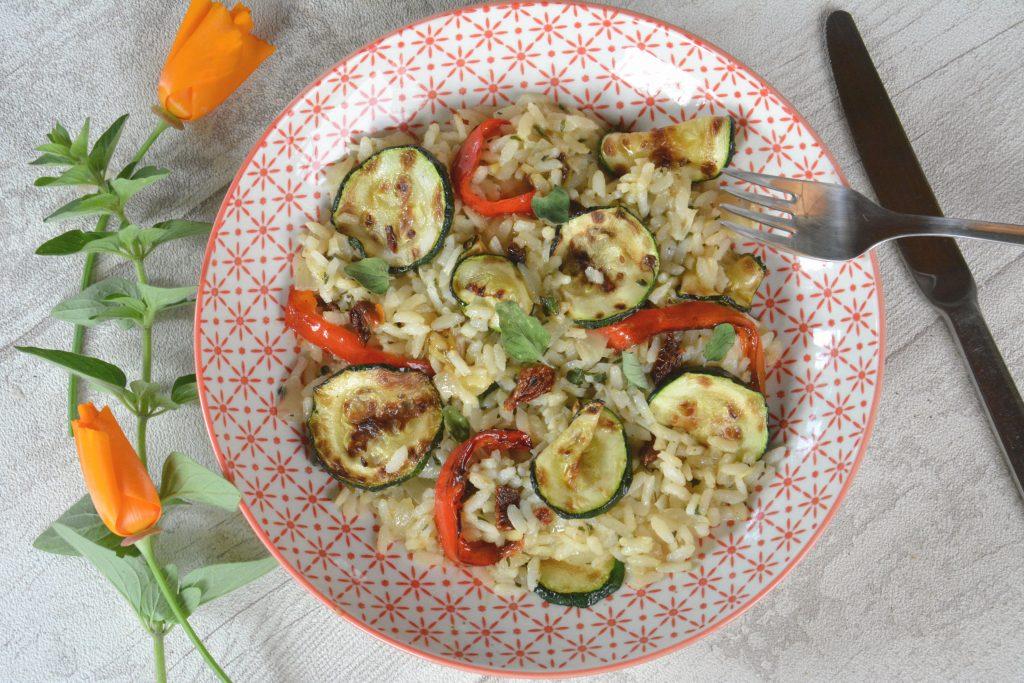 risotto légumes d'été grillés