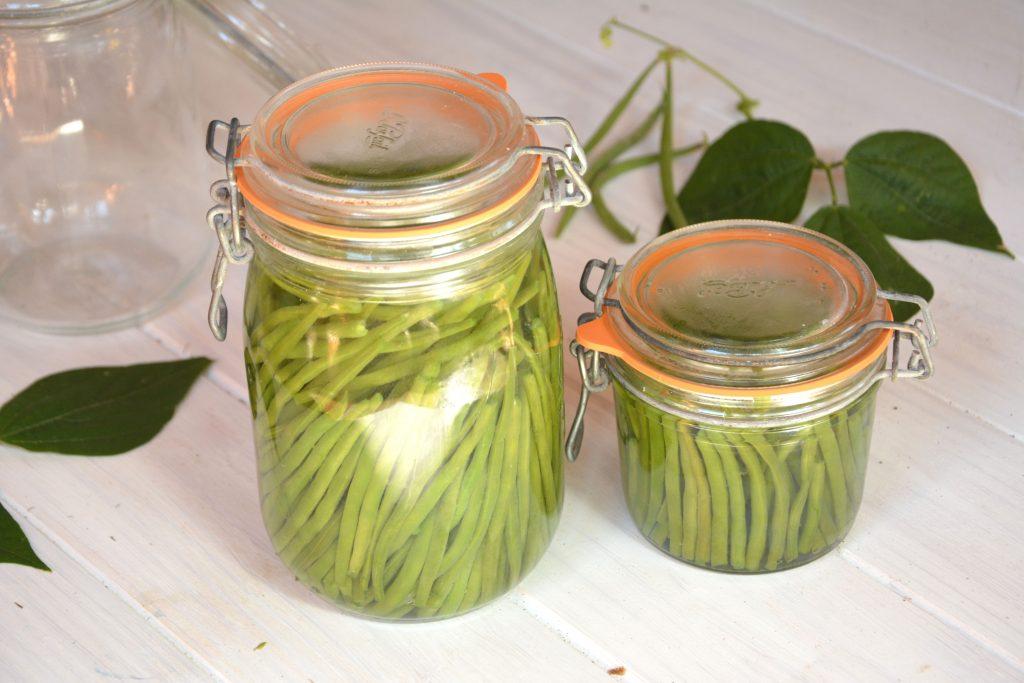 Conserve de haricots verts au naturel au fil du thym - Comment congeler des haricots verts frais du jardin ...