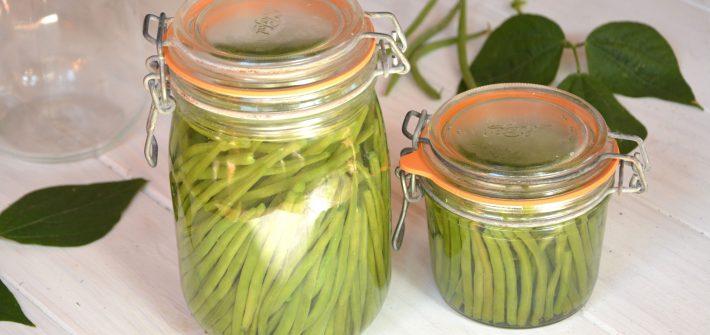 conserve haricots verts au naturel - Méthode Facile et rapide - Au Fil du Thym