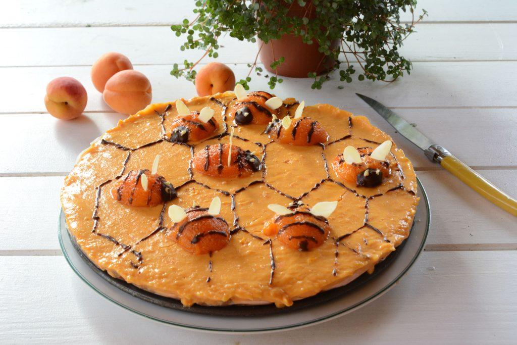 tarte ruche aux abeilles / tarte curd abricot - Au Fil du Thym