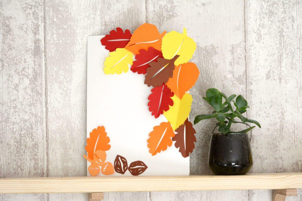DIY cadre feuilles automne en papier - AU Fil du Thym
