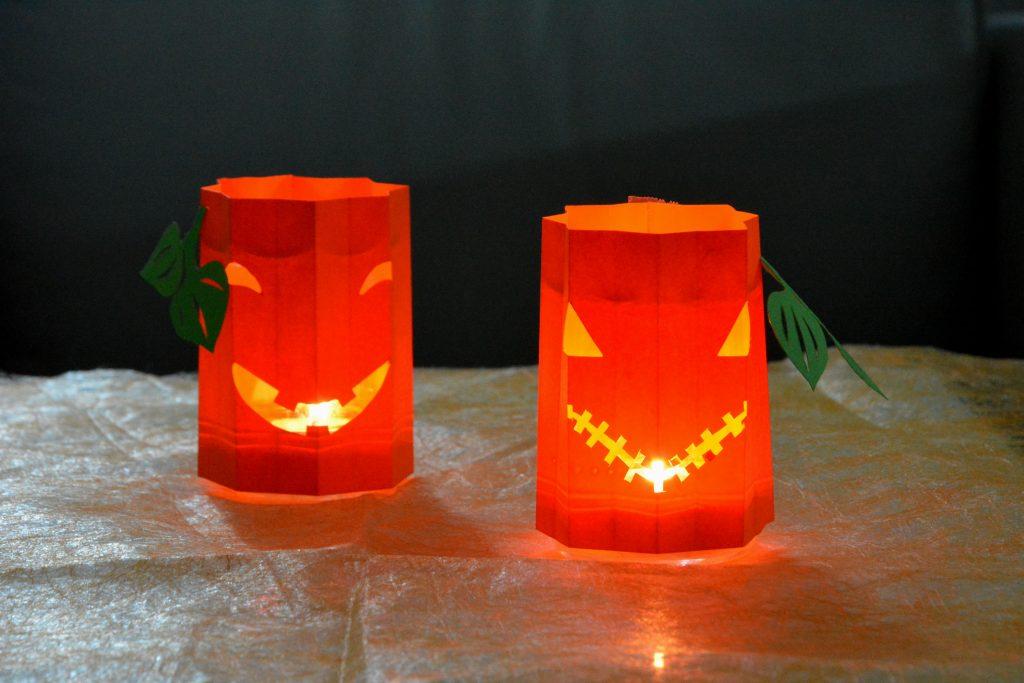 DIY photophore citrouille pour Halloween