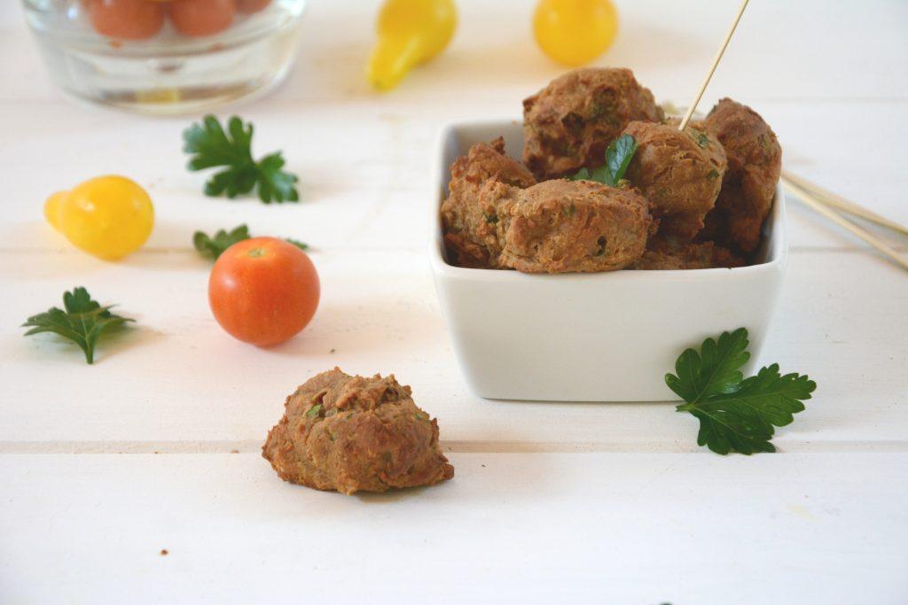 Falafels de tofu fumé aux herbes (et au four)