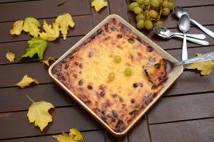 gâteau raisin frais & fromage blanc - dessert d'automne