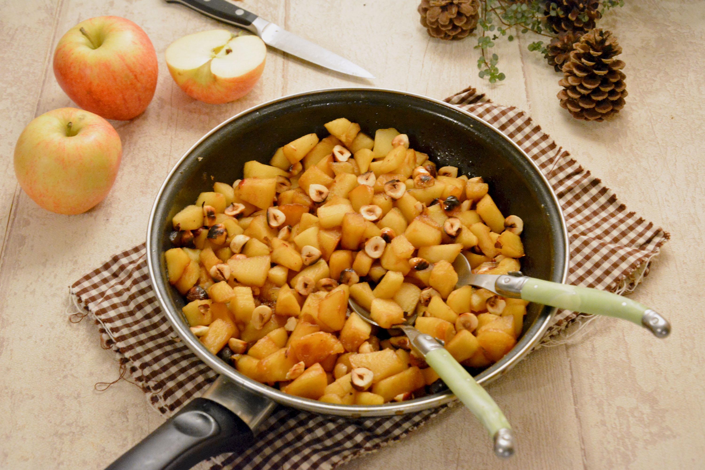 Poêlée pommes, caramel, noisette très réconfortante {bataille food #50}