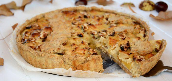 tarte pomme noisette normande - tarte d'automne