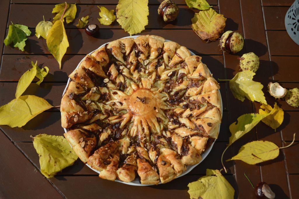 tarte soleil roquefort poires - idée apéro