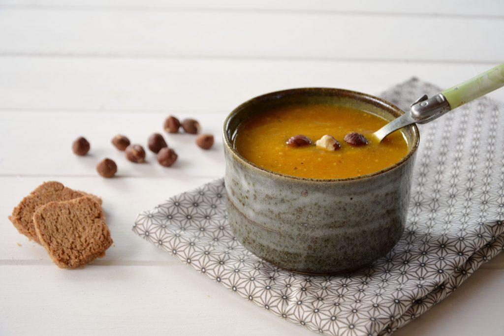soupe potiron noisette aux délicieuses saveur d'automne - soupe automne