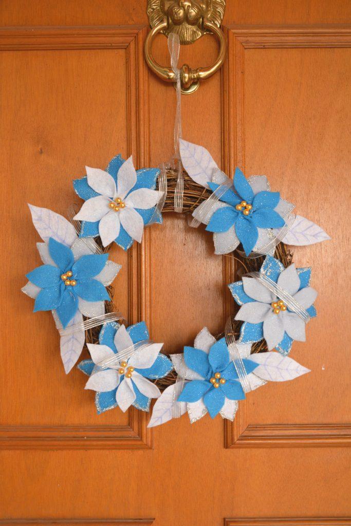 Couronne fleurs des neiges -