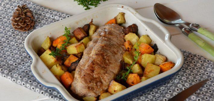 Filet mignon au four & légumes rôtis aux épices douces