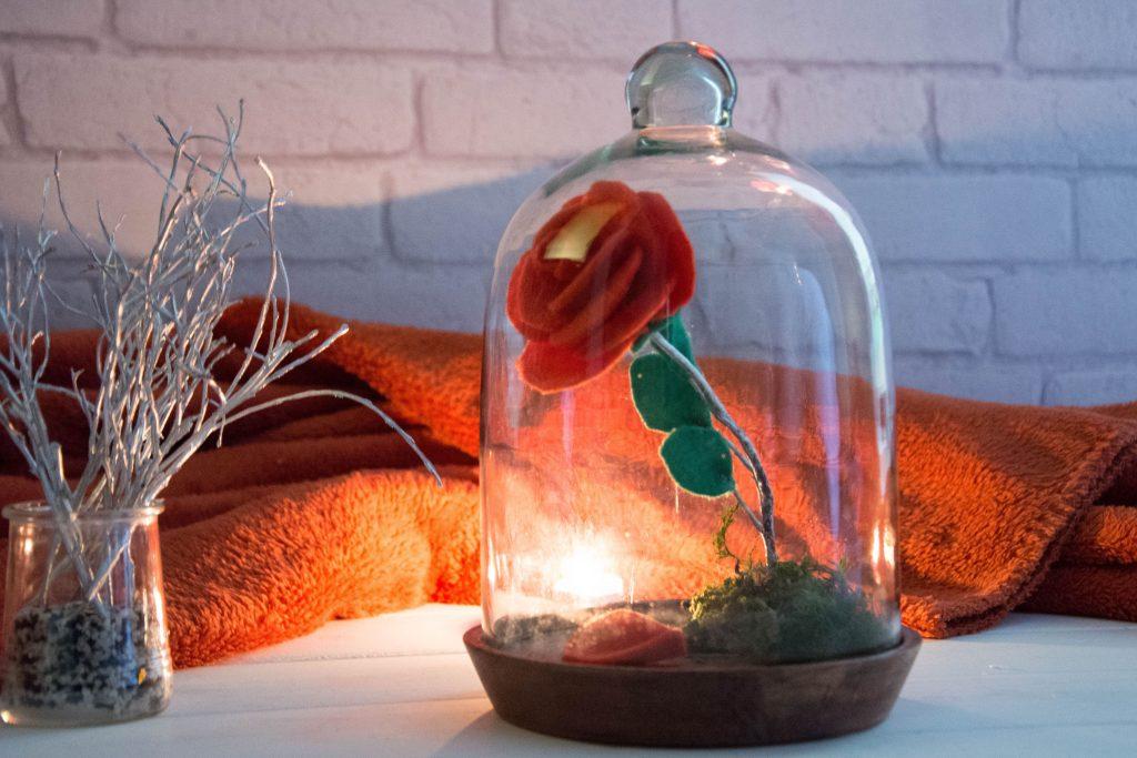 DIY rose la belle et la bête - DIY facile d'une rose en feutrine