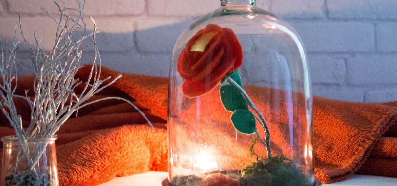diy rose belle et la bete - DIY facile d'une rose en feutrine