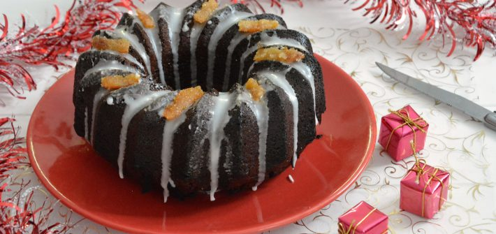 Gâteau chocolat épice et écorces d'orange - Gâteau de Noël facile - Au Fil du Thym