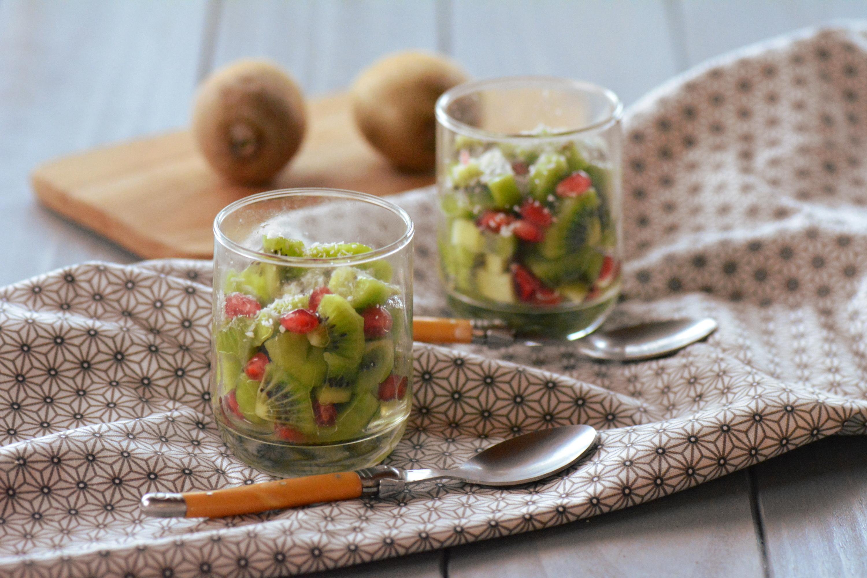 Verrines (kiwi grenade coco (salade détox)