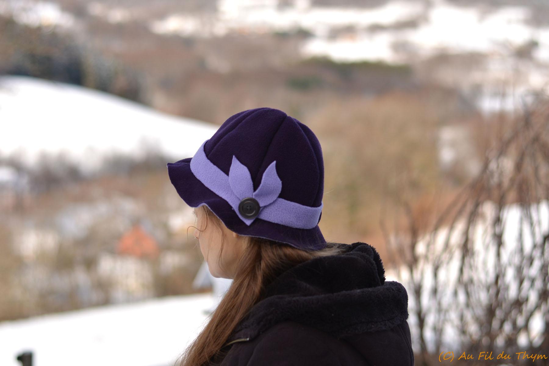 DIY – Un Chapeau en polaire un brin rétro