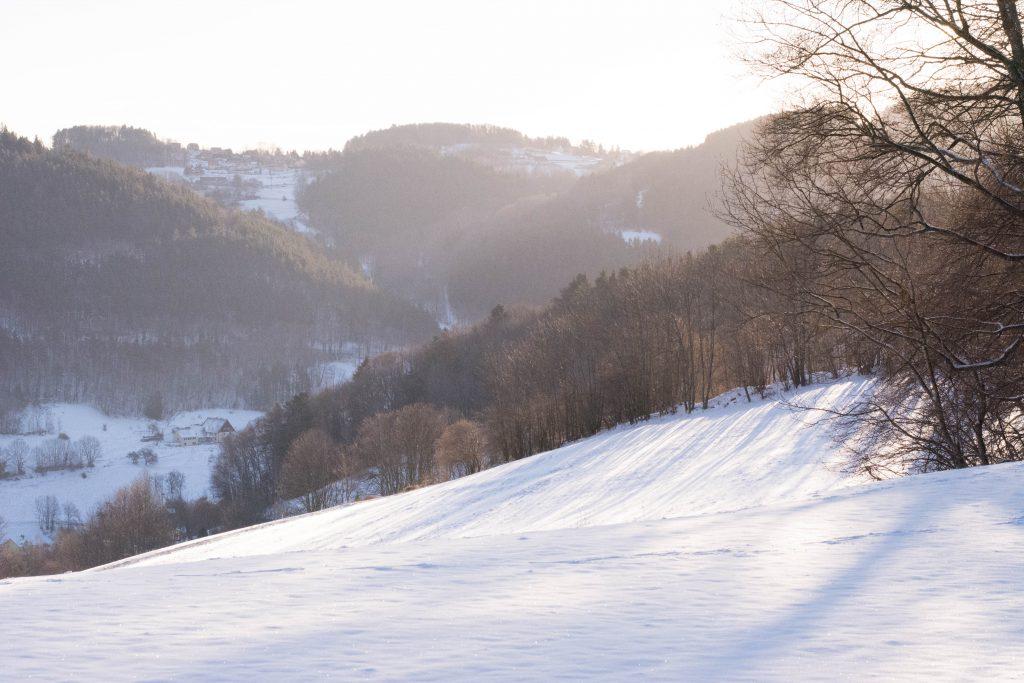 Aperçu des paysages des Vosges en hiver