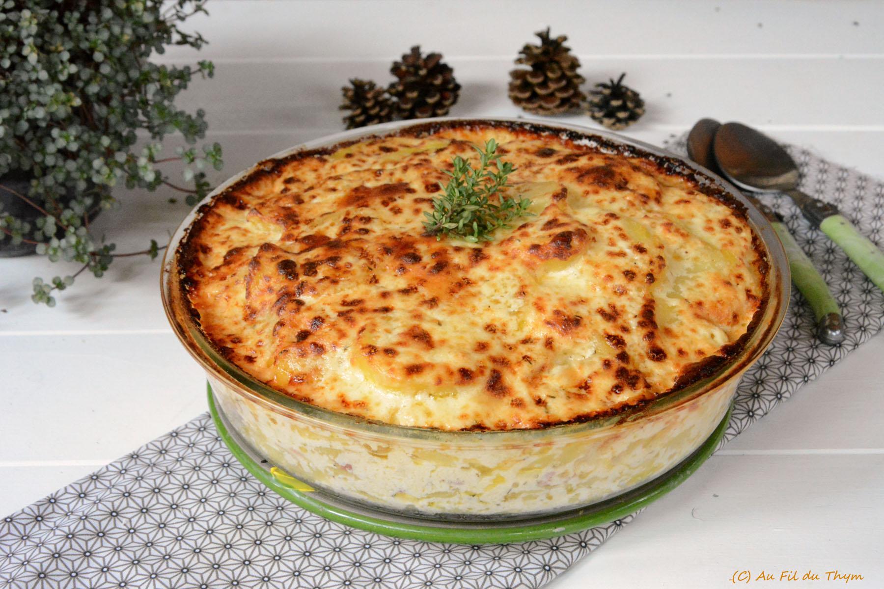 Gratin de pommes de terre au Beaufort (façon tartiflette)