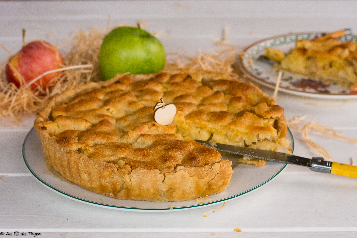Tarte d'Yport (pommes & amandes)