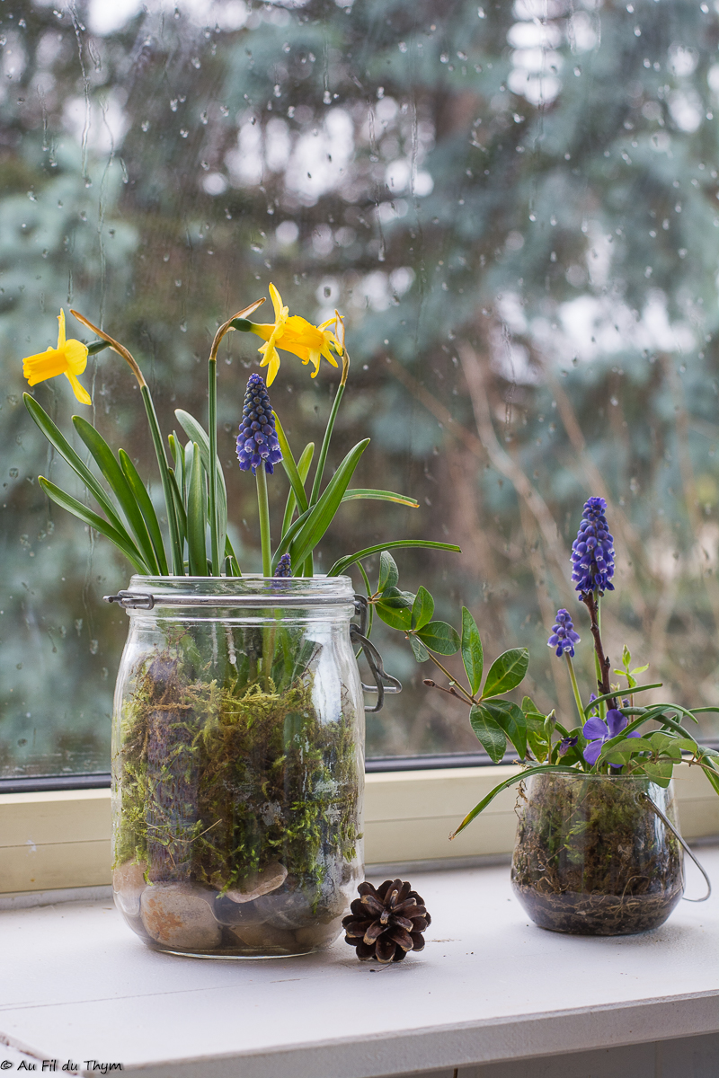 2 idées de compositions fleuries de printemps (faciles à réaliser)