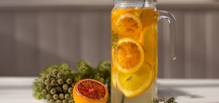 Détox water citron & orange - détox water hiver - recette détox