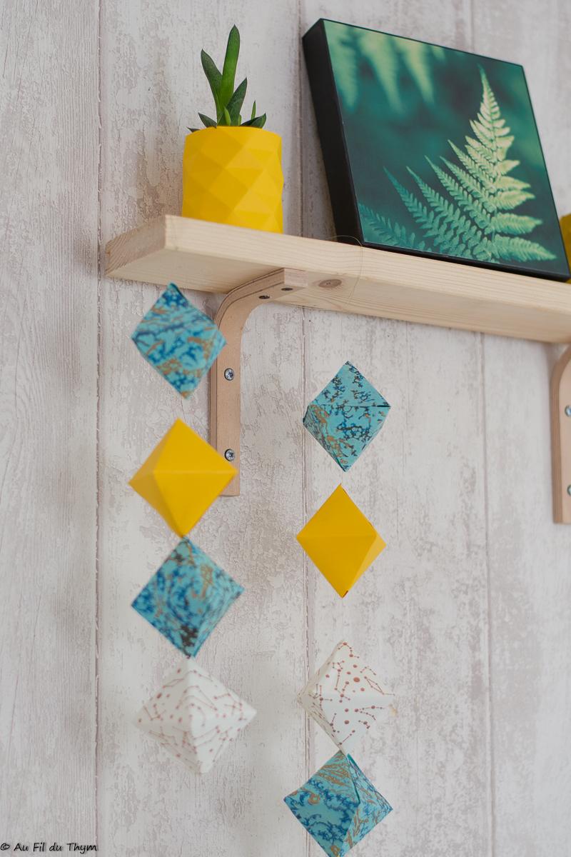 DIY – Une suspension géométrique en papier